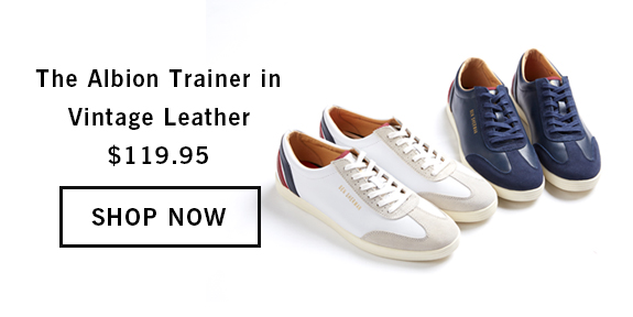 The Albion Trainer in Vintage Leather