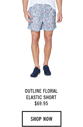 OUTLINE FLORAL ELASTIC SHORT