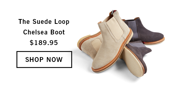 The Suede Loop Chelsea Boot