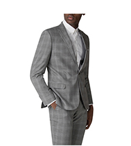 GREY WITH BLUE OVERCHECK JACKET