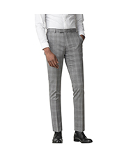 GREY WITH BLUE OVERCHECK TROUSER