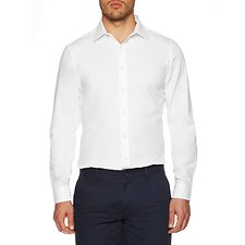 Image of Ben Sherman Australia BRIGHT WHITE TEXTURED KINGS SHIRT