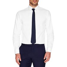 Image of Ben Sherman Australia BRIGHT WHITE SATEEN STRIPE KINGS BUSINESS SHIRT