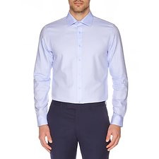 Image of Ben Sherman Australia BLUE HERRINGBONE KINGS BUSINESS SHIRT