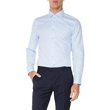 Image of Ben Sherman Australia BLUE HERRINGBONE KINGS SHIRT
