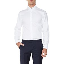 Image of Ben Sherman Australia BRIGHT WHITE HERRINGBONE KINGS SHIRT