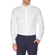 Image of Ben Sherman Australia BRIGHT WHITE FINE DOT KINGS BUSINESS SHIRT