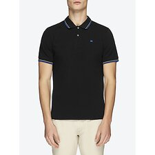 Image of Ben Sherman Australia BLACK/BLUE THE ROMFORD POLO