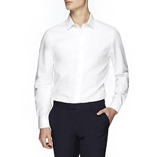 Image of Ben Sherman Australia BRIGHT WHITE CAMDEN HONEYCOMB SHIRT