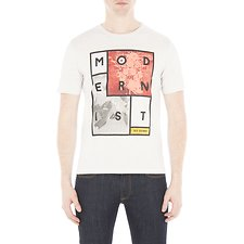 Image of Ben Sherman Australia OFF WHITE MODERNIST CUBE PRINT TEE