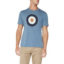 Image of Ben Sherman Australia BLUE SHADOW TARGET T-SHIRT