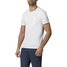 Image of Ben Sherman Australia WHITE PLAIN POCKET CREW T-SHIRT
