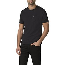 Image of Ben Sherman Australia BLACK PLAIN POCKET CREW T-SHIRT