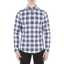 Image of Ben Sherman Australia WHITE CREPE GINGHAM CHECK SHIRT