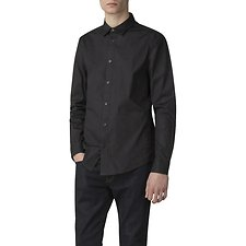 Image of Ben Sherman Australia BLACK STRETCH POPLIN SHIRT