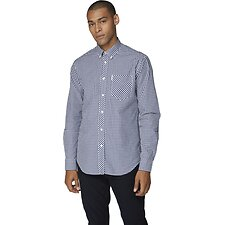 Image of Ben Sherman Australia DARK BLUE GINGHAM SHIRT
