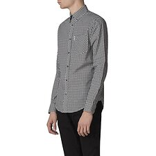 Image of Ben Sherman Australia BARELY BLACK GINGHAM SHIRT