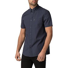Image of Ben Sherman Australia BLUE GREY GINGHAM SHIRT