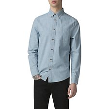 Image of Ben Sherman Australia DUSKY BLUE CHAMBRAY SHIRT