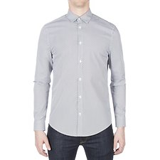 Image of Ben Sherman Australia DARK NAVY OPTIC DASH DOT SHIRT