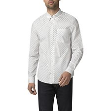 Image of Ben Sherman Australia WHITE POLKA DOT SHIRT