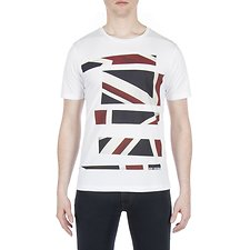 Picture of UNION JACK STRIPE PRINT TEE