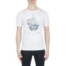 Image of Ben Sherman Australia WHITE A WAY OF LIFE PRINT TEE