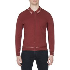 Picture of TIPPED COLLAR FULL ZIP KNIT