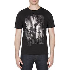 Image of Ben Sherman Australia BLACK GUITARIST STRIKE THROUGH TEE