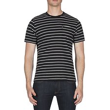 Picture of FINE STRIPE CREW TEE
