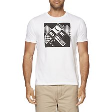 Image of Ben Sherman Australia WHITE DOMINOES PRINT TEE