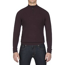 Picture of TEXTURED QUARTER FUNNEL NECK KNIT