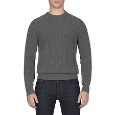 Picture of CABLE FRONT CREW NECK KNIT
