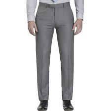 Picture of GREY WINDOWPANE CHECK TROUSER