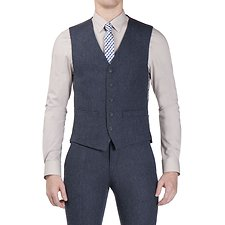 Picture of Winter Blue Donegal Camden Waistcoat