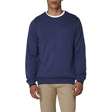 Image of Ben Sherman Australia LIGHT GREY MARL TIPPED CREW NECK KNIT