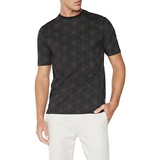 Image of Ben Sherman Australia BLACK THE PRINT WITHIN PRINT PINDOT T-SHIRT