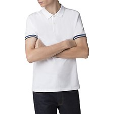 Image of Ben Sherman Australia WHITE THE SHARP FABRIC MIX COLLAR POLO