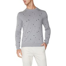 Picture of THE EMBROIDERED PINDOT CREW NECK KNIT
