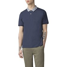 Image of Ben Sherman Australia DARK BLUE INTARSIA COLLAR POLO