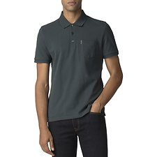 Image of Ben Sherman Australia DARK GREEN HONEYCOMB COLLAR PIQUE POLO