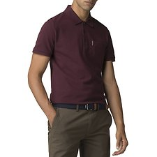 Image of Ben Sherman Australia WINE HONEYCOMB COLLAR PIQUE POLO