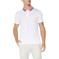 Image of Ben Sherman Australia WHITE TIPPED SLUB COLLAR POLO