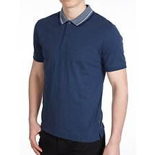 Image of Ben Sherman Australia BLUE TIPPED SLUB COLLAR POLO