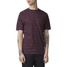 Image of Ben Sherman Australia NAVY DISTORTED STRIPE CREW NECK