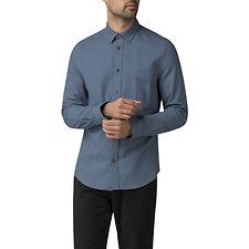 Image of Ben Sherman Australia BLUE DOBBY GEO SHIRT