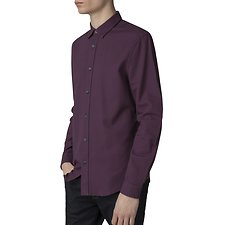 Image of Ben Sherman Australia RED DAHLIA DOBBY GEO SHIRT