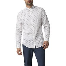 Image of Ben Sherman Australia WHITE CLIP STRIPE SHIRT
