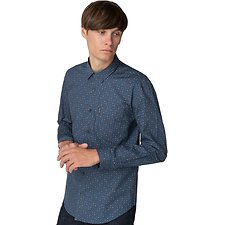 Image of Ben Sherman Australia BLUE SCATTERED GEO PRINT SHIRT