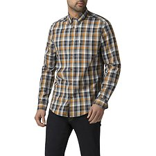 Image of Ben Sherman Australia MUSTARD DISTORTED HOUSE GINGHAM SHIRT